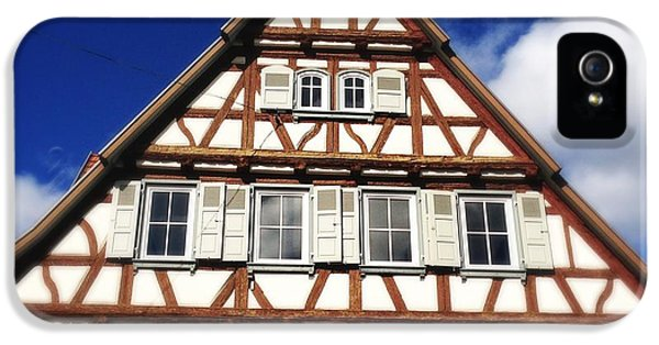 House iPhone 5s Case - Half-timbered House 03 by Matthias Hauser