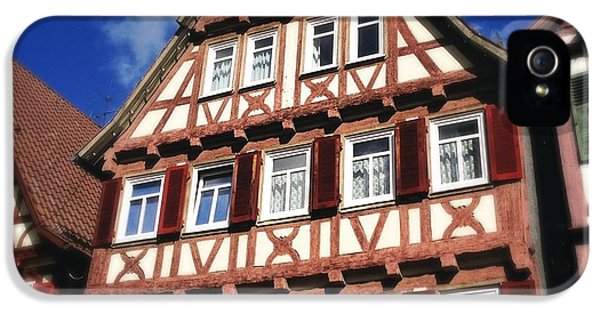 House iPhone 5s Case - Half-timbered House 10 by Matthias Hauser
