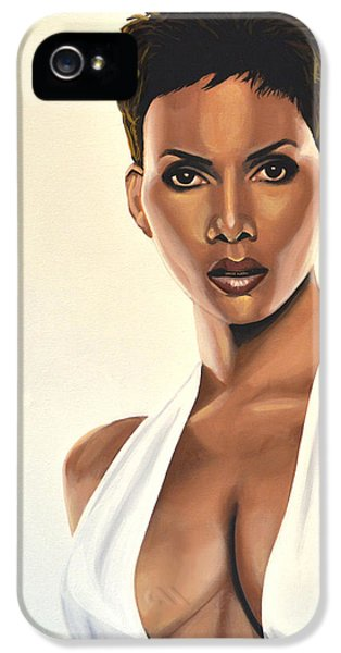 Halle Berry Painting IPhone 5s Case by Paul Meijering