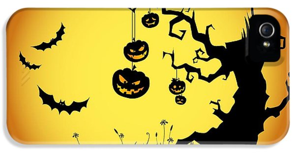 Halloween Haunted Tree IPhone 5s Case by Gianfranco Weiss