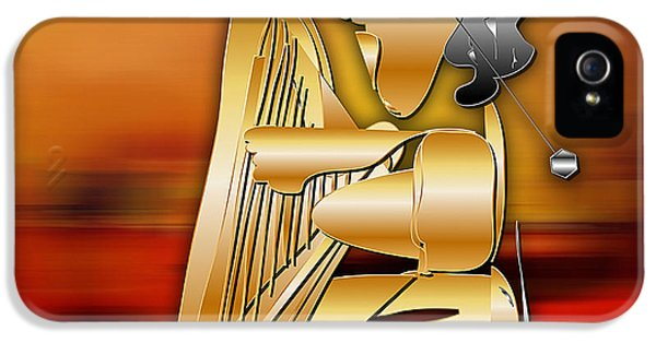 IPhone 5s Case featuring the digital art Harp Player by Marvin Blaine