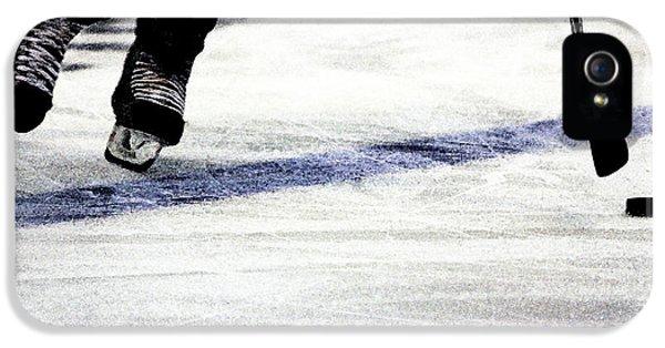 Hockey iPhone 5s Case - He Skates by Karol Livote
