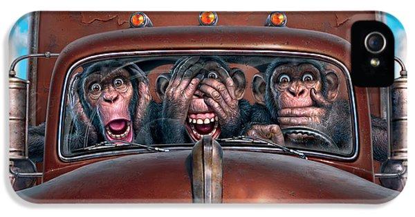 Truck iPhone 5s Case - Hear No Evil See No Evil Speak No Evil by Mark Fredrickson