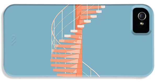 Pattern iPhone 5s Case - Helical Stairs by Peter Cassidy