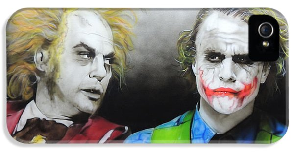 Health Ledger - ' Hey Why So Serious? ' IPhone 5s Case by Christian Chapman Art