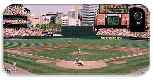 Oriole iPhone 5s Case - High Angle View Of A Baseball Field by Panoramic Images