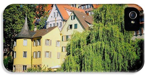 House iPhone 5s Case - Hoelderlin Tower In Lovely Tuebingen Germany by Matthias Hauser