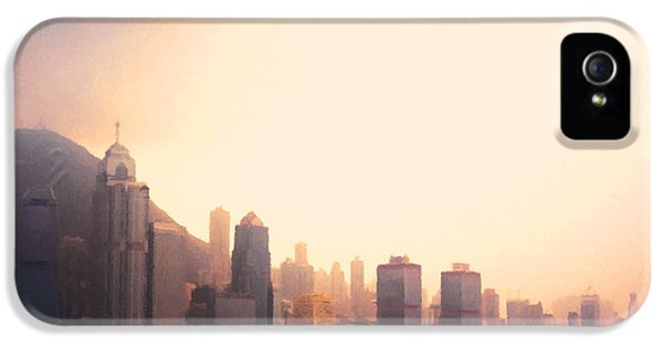 Hong Kong Harbour Sunset IPhone 5s Case by Pixel  Chimp