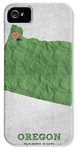 I Love Portland Oregon- Green IPhone 5s Case by Aged Pixel