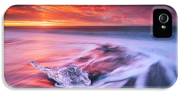 Flow iPhone 5s Case - Ice And Fire II by Jingshu Zhu