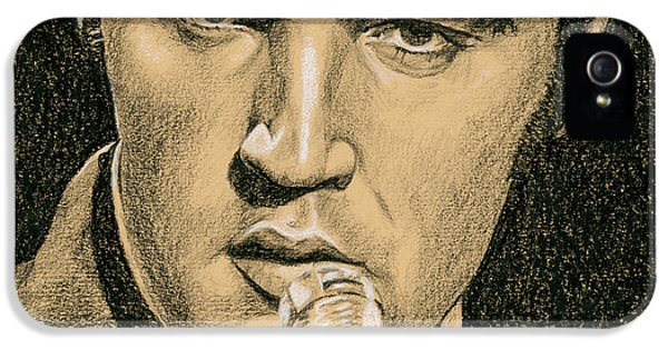 Elvis Presley iPhone 5s Case - If You're Looking For Trouble by Rob De Vries