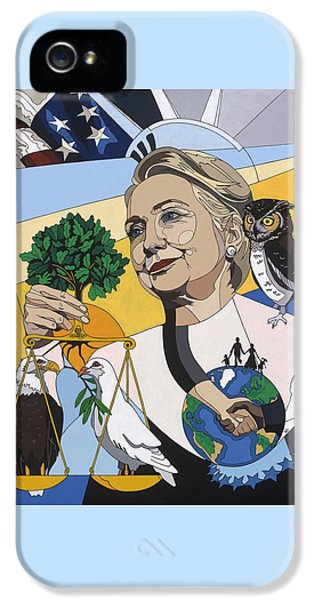 In Honor Of Hillary Clinton IPhone 5s Case by Konni Jensen