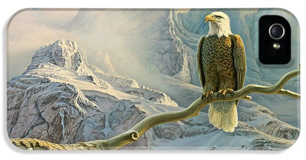 Eagle iPhone 5s Case - In The High Country-eagle by Paul Krapf