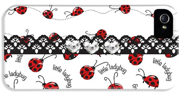 Innocent Ladybugs  IPhone 5s Case by Debra  Miller