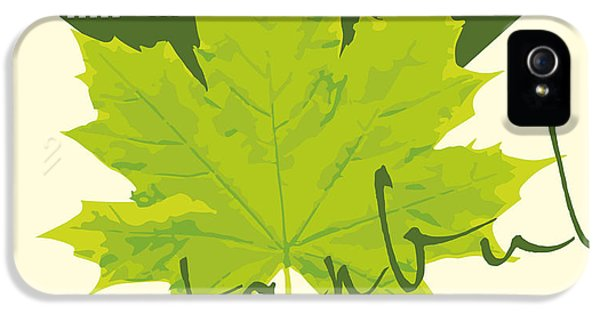 Castle iPhone 5s Case - Istanbul City And Sycamore Leaf Vector by A1vector