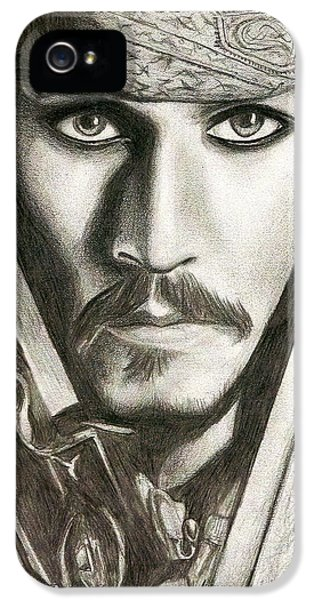 Jack Sparrow IPhone 5s Case by Michael Mestas