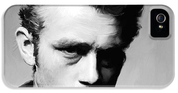 James Dean - Portrait IPhone 5s Case by Paul Tagliamonte