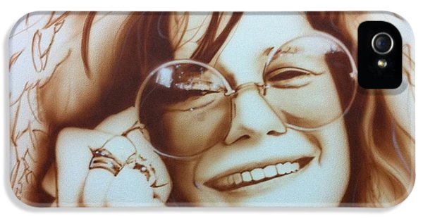 Rock And Roll iPhone 5s Case - Janis by Christian Chapman Art