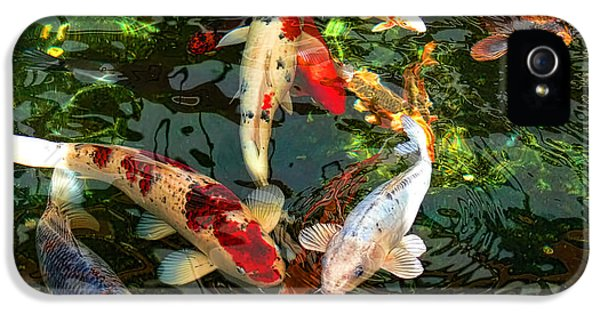 Japanese Koi Fish Pond IPhone 5s Case by Jennie Marie Schell