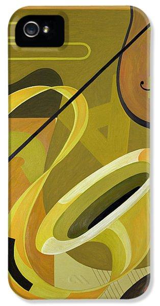 Trombone iPhone 5s Case - Jazz by Carolyn Hubbard-Ford