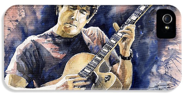 Impressionism iPhone 5s Case - Jazz Rock John Mayer 06 by Yuriy Shevchuk