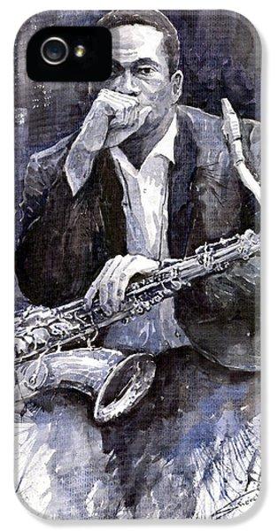 Jazz Saxophonist John Coltrane Black IPhone 5s Case by Yuriy  Shevchuk