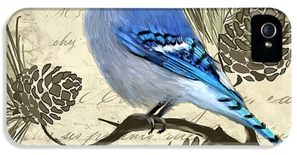 Bluejay iPhone 5s Case - Jeweled Blue by Lourry Legarde