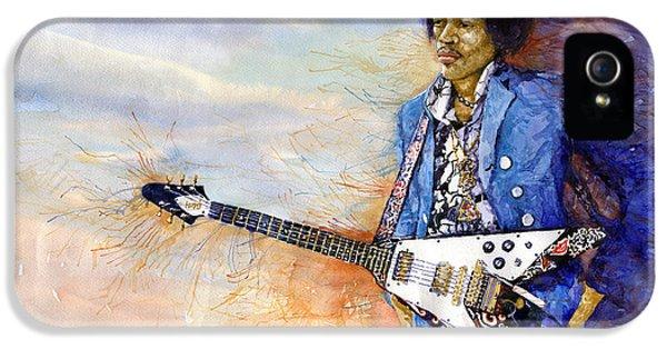 Figurative iPhone 5s Case - Jimi Hendrix 10 by Yuriy Shevchuk
