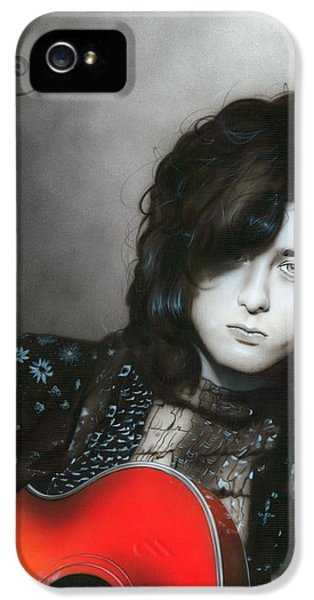 ' Jimmy Page ' IPhone 5s Case by Christian Chapman Art