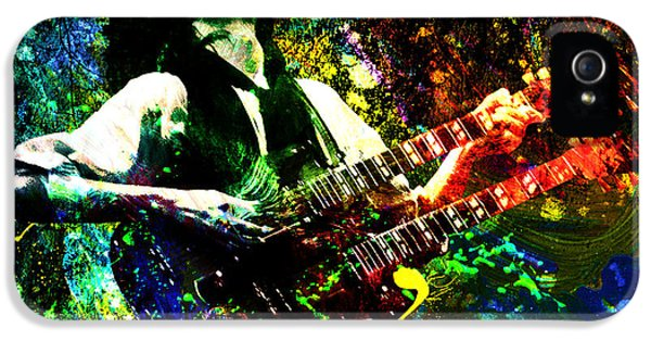 Jimmy Page - Led Zeppelin - Original Painting Print IPhone 5s Case by Ryan Rock Artist