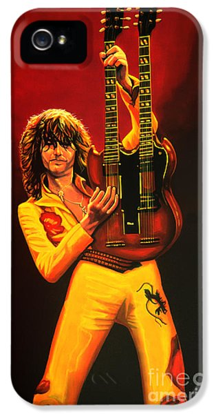 Jimmy Page Painting IPhone 5s Case by Paul Meijering