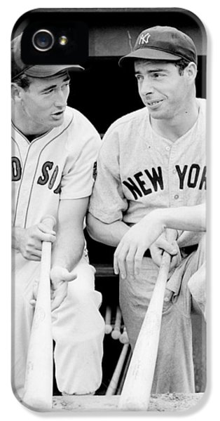 Professional Baseball Teams iPhone 5s Case - Joe Dimaggio And Ted Williams by Gianfranco Weiss
