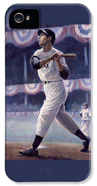 New York Yankees iPhone 5s Case - Joe Dimaggio by Gregory Perillo