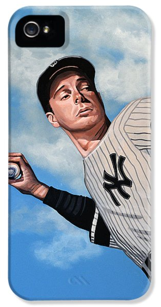 Professional Baseball Teams iPhone 5s Case - Joe Dimaggio by Paul Meijering