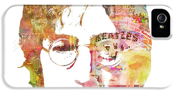 John Lennon IPhone 5s Case by Mike Maher