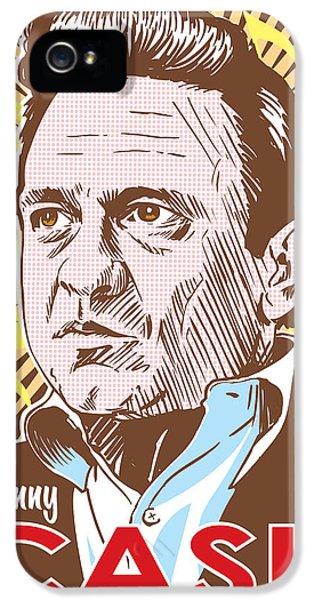 Johnny Cash Pop Art IPhone 5s Case by Jim Zahniser