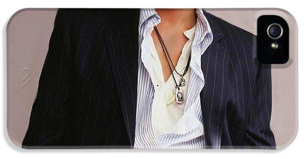 Johnny Depp iPhone 5s Case - Johnny Depp by Dominique Amendola