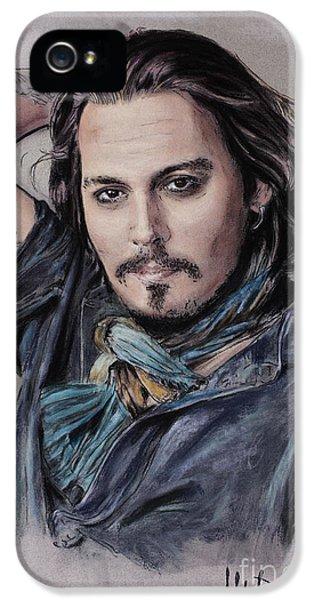 Johnny Depp IPhone 5s Case by Melanie D