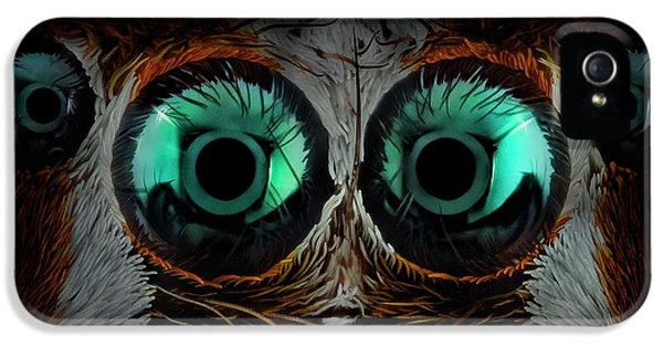 Macro iPhone 5s Case - Jumping Spider Eyes by Javier Rup?rez