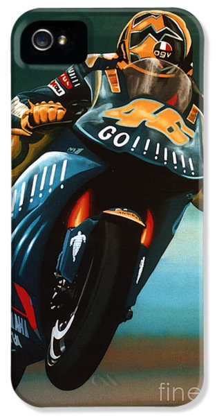 Doctor iPhone 5s Case - Jumping Valentino Rossi  by Paul Meijering