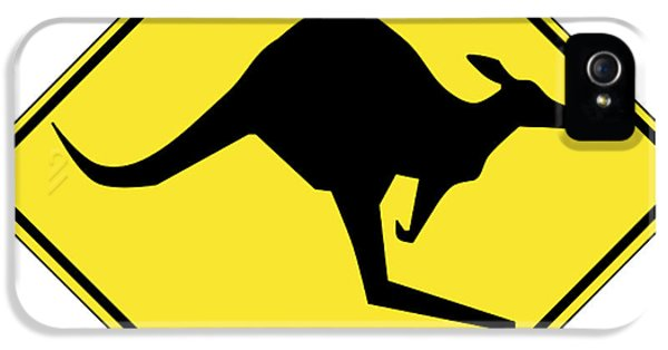 Kangaroo Crossing Sign IPhone 5s Case
