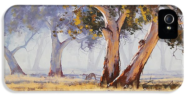 Impressionism iPhone 5s Case - Kangaroo Grazing by Graham Gercken