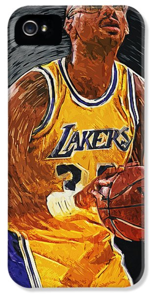 Kareem Abdul-jabbar IPhone 5s Case by Taylan Apukovska