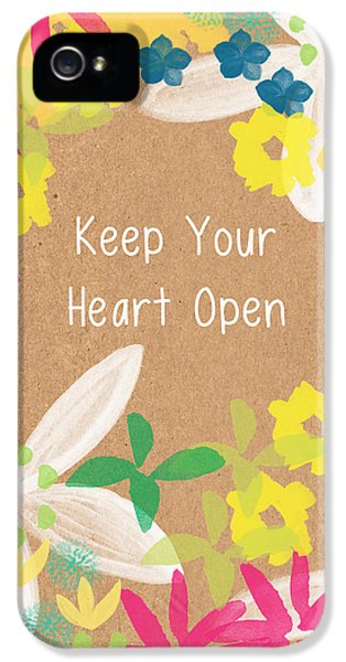 Tulip iPhone 5s Case - Keep Your Heart Open by Linda Woods