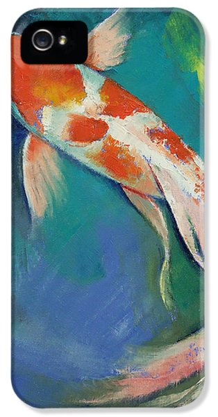 Kohaku Butterfly Koi IPhone 5s Case by Michael Creese