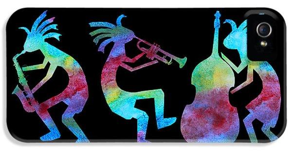 Music iPhone 5s Case - Kokopelli Jazz Trio by Jenny Armitage