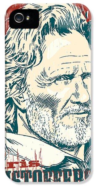 Kris Kristofferson Pop Art IPhone 5s Case by Jim Zahniser