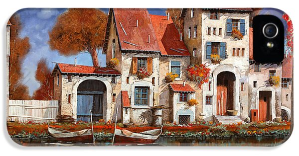 Boat iPhone 5s Case - La Cascina Sul Lago by Guido Borelli