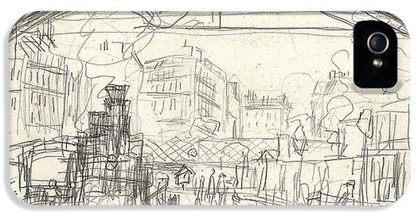 Etching iPhone 5s Case - La Gare Saint Lazare by Claude Monet