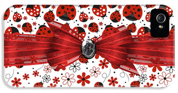 Ladybug Magic IPhone 5s Case by Debra  Miller